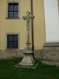 Image for Stone Cross at Church of St. Lawrence / Kamenný kríž u kostela Sv. Vavrince, Dacice , Czech Republic