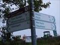 Image for Arrows at the Maifeld bike path - Münstermaifeld, RP, Germany