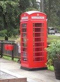 Image for A Red 'Phone Box on Whipsnade Station, Whipsnade Zoo, Bedfordshire.