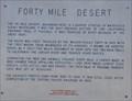 Image for Forty Mile Desert