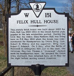 A close up image of the historical marker.