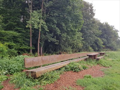 LONGEST - one-piece wooden bench of the world, Hessen