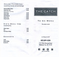 Image for The Catch takeout menu - OKC, OK