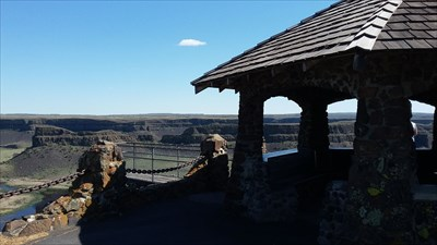 The gazebo at Dry Falls State Park.