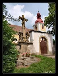Cross at Church of Tranfiguration (Kostel Promenení Páne) - Slatina nad Zdobnicí