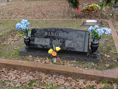 Fairly recent burial.