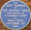 Image for FIRST - Number of the Sunday Times - Salisbury Court, London, UK