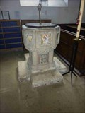 Image for Stone Font, Holy Trinity, Much Wenlock, Shropshire, England
