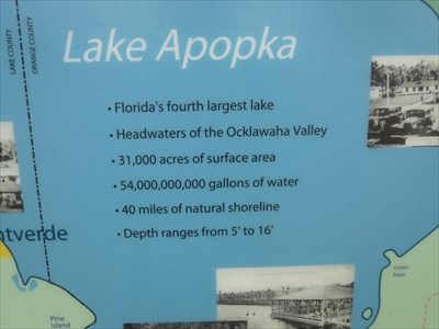 Apopka Lake - Florida - USA.