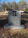 """``The """"black cemetery"""" on Oven Top Road[sic]`` where Sister Caroline is buried. It is actually on Oventop Mountain Lane."""