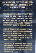 Image for Allied Invasion of Europe Memorial - Newport, Gwent, Wales.