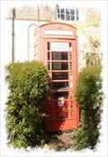 Image for Red Telephone Box - Northbourne Road, Northbourne, Kent, UK.