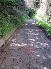 Paved Pathway with Design, Buena Vista Park, San Francisco, CA