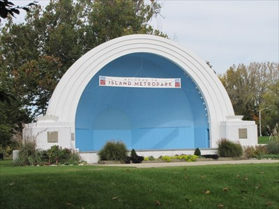 Band Shell from the Left, Dayton, OH