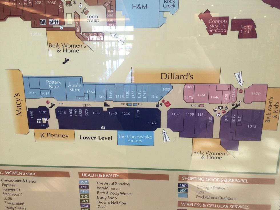 Cool Springs Galleria Map