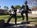 Image for Dunnellon's Blues Brothers statues restored after vandalism - Dunnellon, Florida, USA