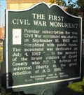 Image for The First Civil War Monument - Lancaster, WI
