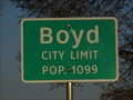 Image for Boyd, TX - Population 1099