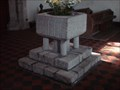 Image for Stone Font in St James' Church, Cooling, Kent UK