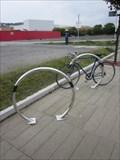 Image for Bicycle Tender, Suspension Bridge, Marina, Maritime Quarter, Swansea, Wales, UK
