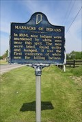 Image for FIRST - White Men Executed for Killing Indians - Indiana