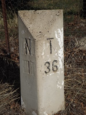 Close up of this Milestone out of Nundle. 1507, Monday, 6 May, 2019