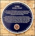 Image for York Zero Post, York Railway Sation, York, UK