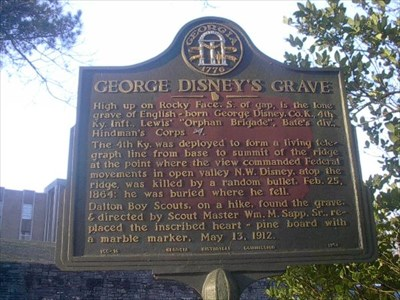 showing 1st image of Ky State W 4 Form George Disney's Grave - GHM 155-16 - Georgia Historical ...