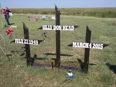 Billy Don Head homemade tombstone, by MountainWoods