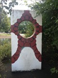 Image for Cement Slab with Inlaid Ceramic - Eugene, Oregon