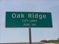 Image for Oak Ridge, TX - Population 141