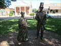 "Image for ""Out of Court,"" Lincoln and Mrs. Goings Sculpture - Metamora, IL"