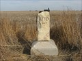 Image for BOD marker 3 miles east and 1/2 mile north of Fort Wallace Cemetery