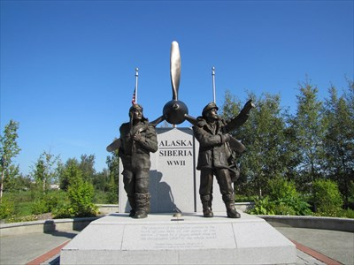 Alaska Siberia World War Ii Memorial Fairbanks Alaska