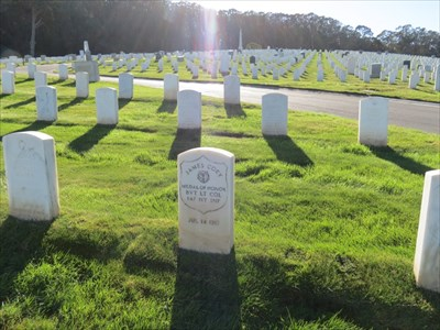 James Coey, Medal of Honor, Setting, San Francisco National Cemetery