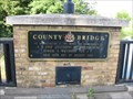 Image for County Bridge Plaques - Prebend Street, Bedford, Bedfordshire, UK