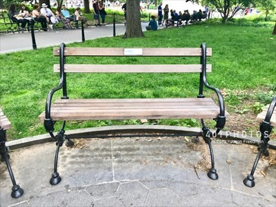 View of the bench looking west.