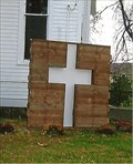Image for Cross in Wall - McCredie UMC - near Kingdom City, MO