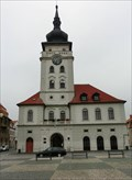 Image for Clock on Town Hall, Zatec, Czech Republi