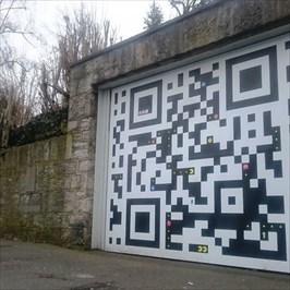 This is a very creative garage door!