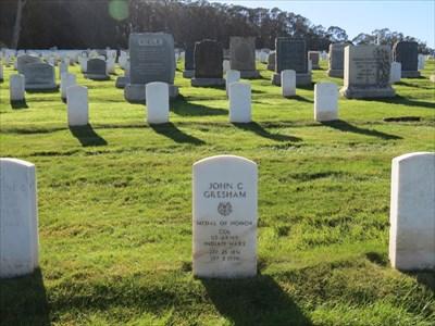 John C Gresham, Marker Setting, San Francisco National Cemetery