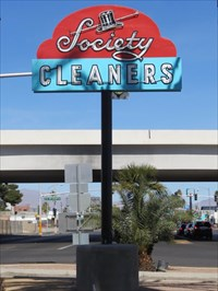 Society Cleaners Sign, Las Vegas, Nevada
