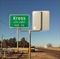 Image for Kress, Texas - Population 715
