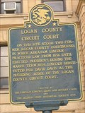 Image for Logan County Circuit Court marker - Lincoln, IL