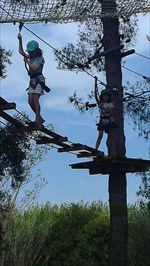 ...having a good time in the trees and on the zip wire.