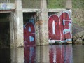 Image for Horseshoe Pond Dam Graffiti - Wareham, MA