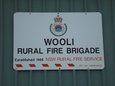 Zoomed view of the sign for the Brigade, 0657, Wednesday, 20 December, 2017