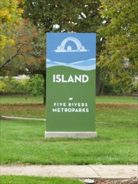Island MetroPark Sign, Dayton, OH