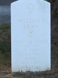 William F Dean Headstone, San Francisco National Cemetery