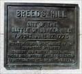 Image for Breed's Hill - Historic Marker - Boston, Massachusetts, USA.